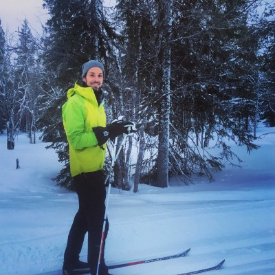 Ryan cross-country in Lapland