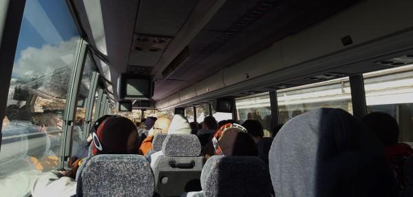 The Banff ski bus