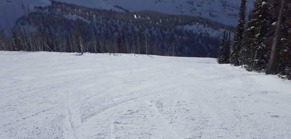 The empty slopes of Banff