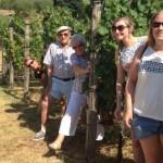 Visitors exploring the vineyards near Bardolino