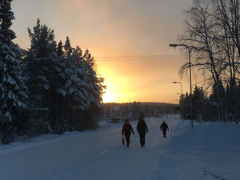 Sunlight during the Polar Night