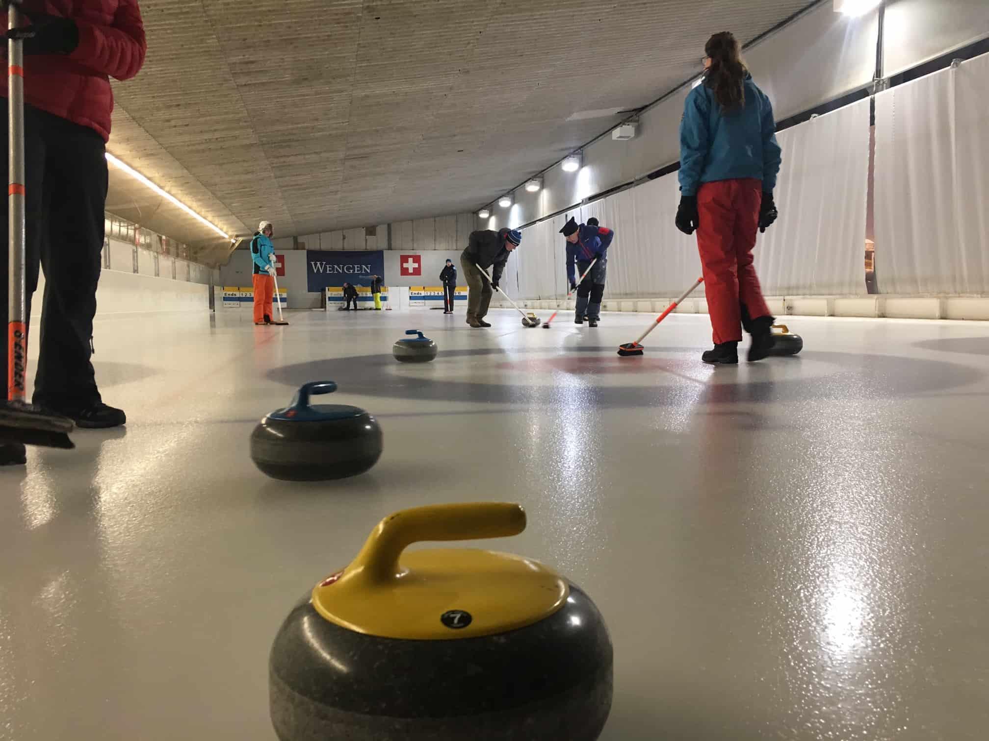 Come curling in Wengen