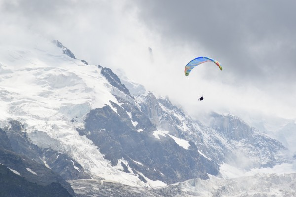 Paragliding In Chamonix Ski Resort