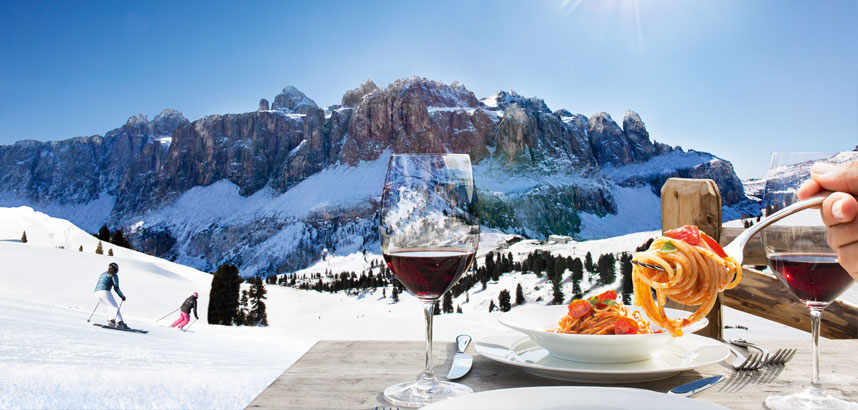 Reasons to ski in Italy - the food