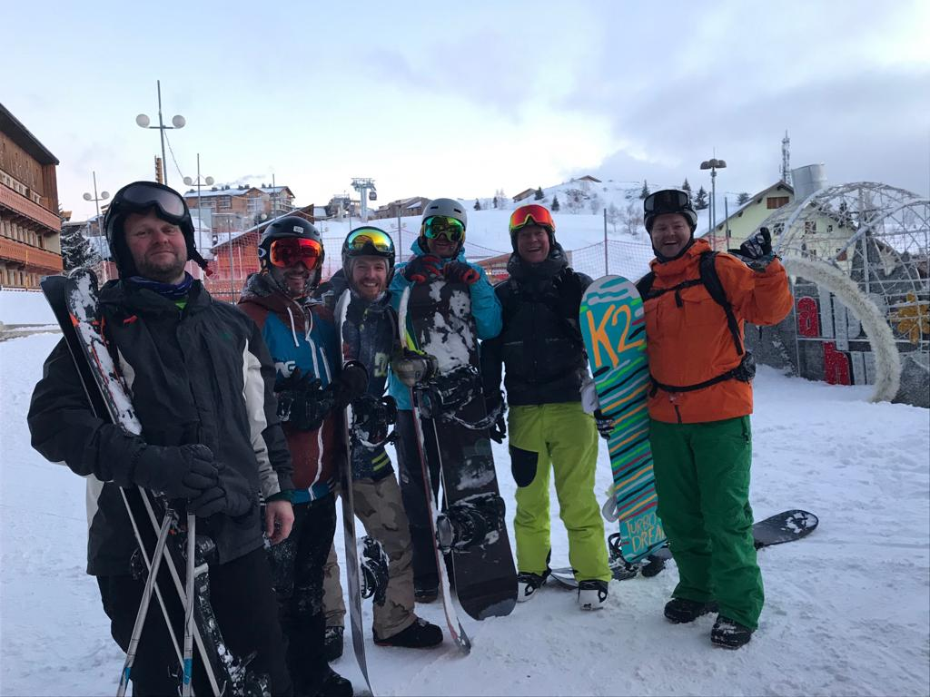 Skiing is great for group holidays