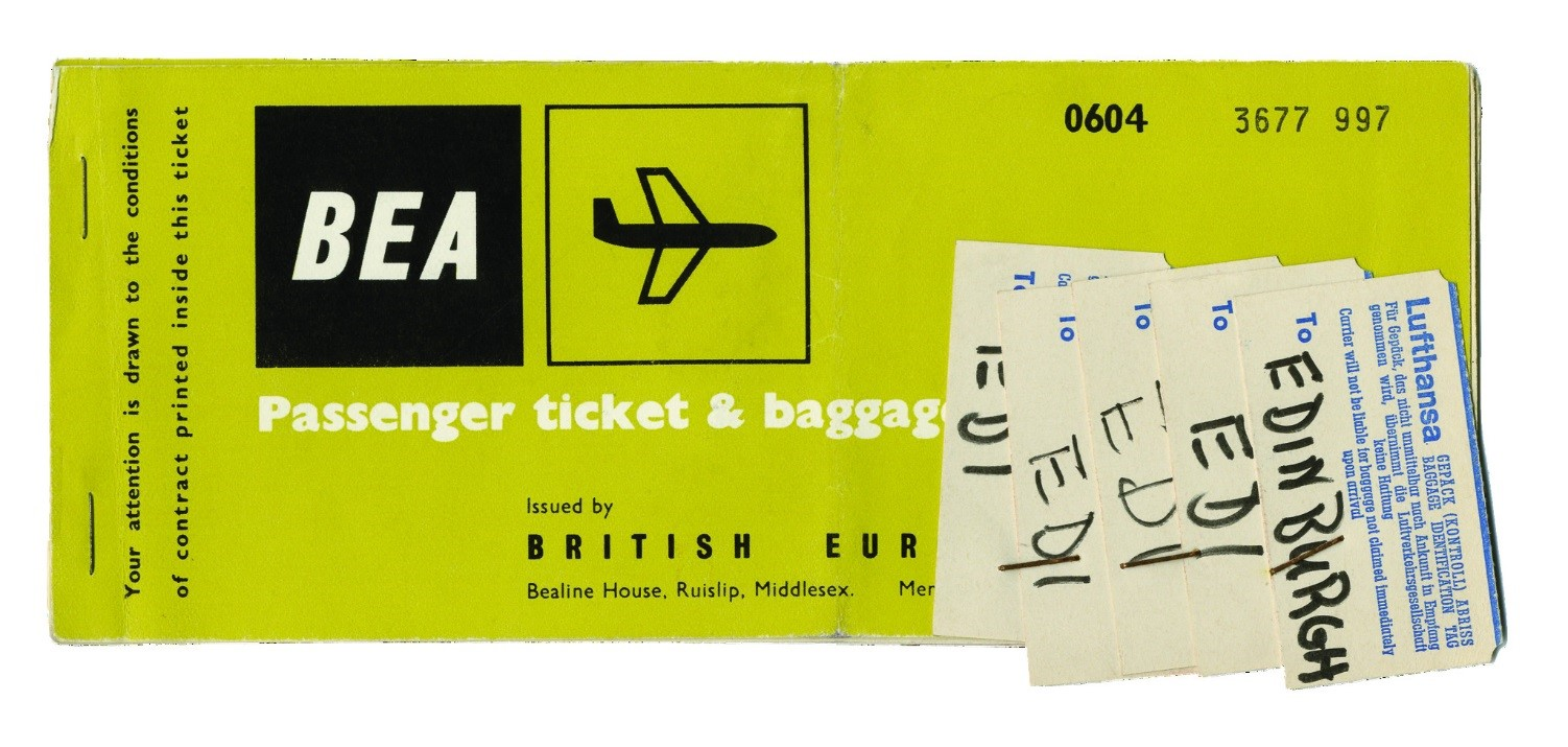 Close up image of boarding passes