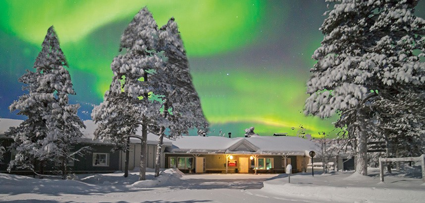 Northern Lights over Lapland Cabins