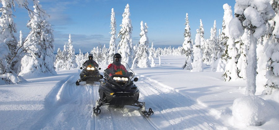 Snowmobiling on a Lapland Holiday